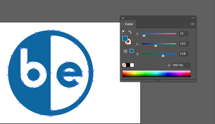 select layers and choose color in adobe illustrator after tracing image