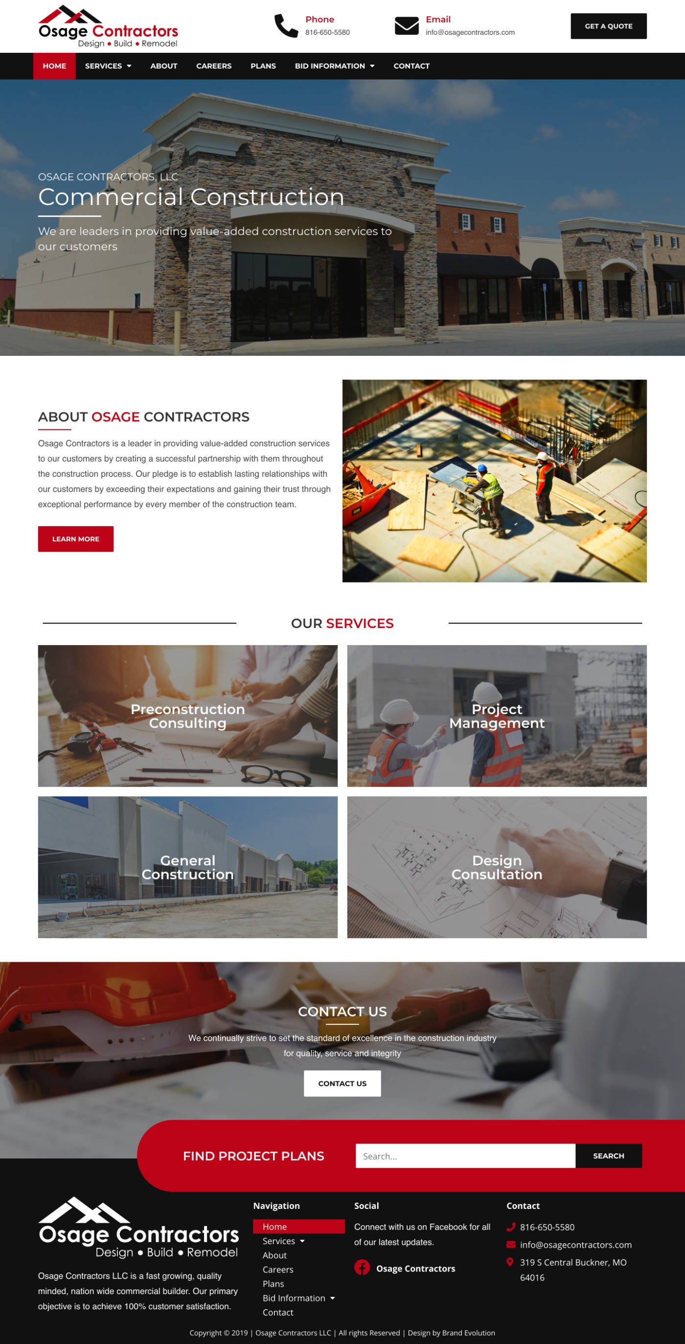 Osage Contractors Homepage