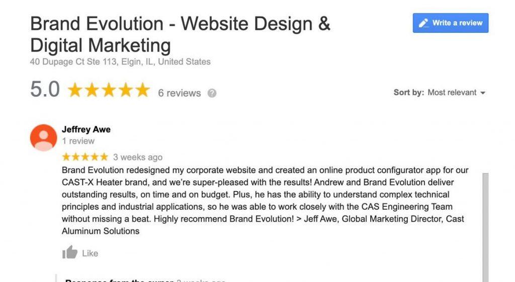 Google Business Reviews for Brand Evolution