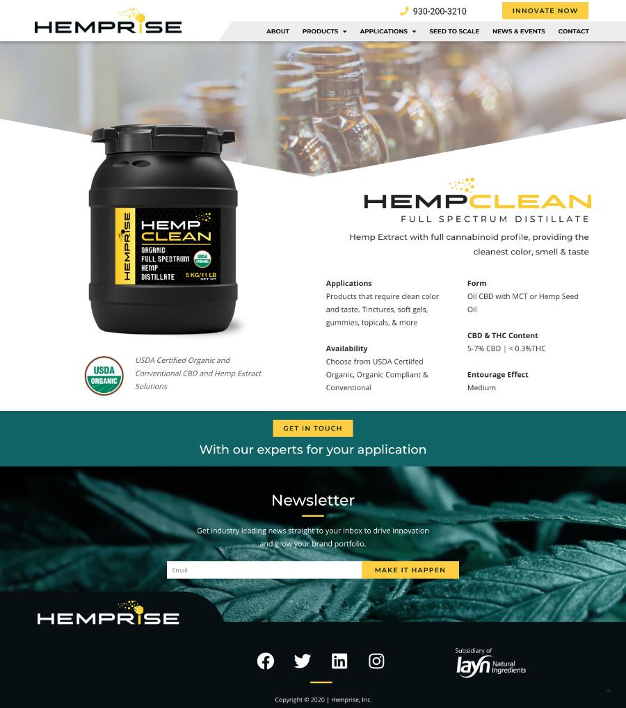 Hemprise clean